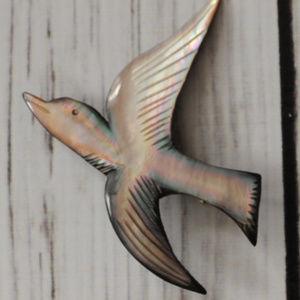 vintage ab aurora borealis bird brooch pin shiny